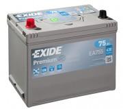Аккумуляторная батарея EXIDE Premium 12V 75Ah 630A