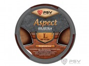 Оплётка на руль кожаная PSV ASPECT (Серый) L