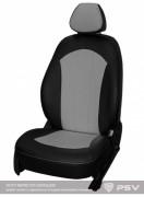 """Чехлы Nissan Almera IV (2013-н.в) спл. Экокожа + алькантара """"Оригинал"""" Черно-серый"""