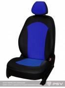 """Чехлы Nissan Juke (2010-н.в.) Экокожа """"Оригинал"""" Черный-синий"""
