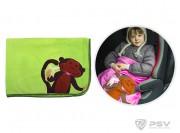 Плед - подушка LITTLE CAR - Monkey Зеленый