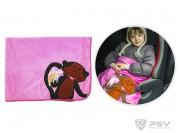 Плед - подушка LITTLE CAR - Monkey Розовый