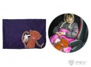 Плед - подушка LITTLE CAR - Monkey Синий