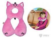 Подушка под шею LITTLE CAR Premium Кошка