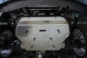 Защита картера Chevrolet Captiva (Шевроле Каптива) V-2.4; 2.2TD + АКПП (2012-) (Алюминий 4 мм)