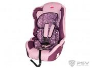 Автокресло детское 9-36кг LITTLE CAR Comfort коты-фиолетовый