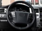 Оплетка на руль PSV со шнуровкой ACTUAL PLUS (Черный) M перфор. экокожа, с поролоном