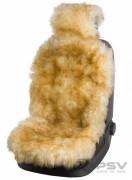Меховая накидка PSV Jolly Extra бежевый-коричневый