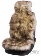 Меховая накидка PSV Jolly Extra белый-коричневый