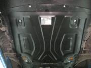 """Защита картера Nissan Qashqai (V-все, 2014-) + КПП """"А"""" штамп. (Сталь 1,8 мм)"""