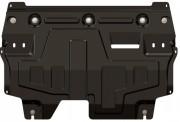 Защита картера Skoda Rapid (Шкода Рапид)1.6AT,Fabia,Roomster Praktik,Scout(09-12-)/VW Polo/Cross/PoloSDКалуга V-1, (Сталь 2 мм)