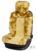 Меховая накидка PSV Jolly Premium бежевый-коричневый