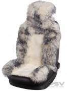 Меховая накидка PSV Jolly Premium белый-серый