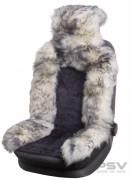 Меховая накидка PSV Jolly Premium т. серый-серый