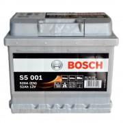 Bosch Аккумуляторная батарея S5 001 Силвер плюс 12V 52Ah 520A